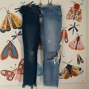 2 Pairs Lucky Jeans Size 8/29 & 10/30